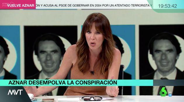 Mamen Mendizábal, hablando sobre Aznar en 'Más Vale Tarde'