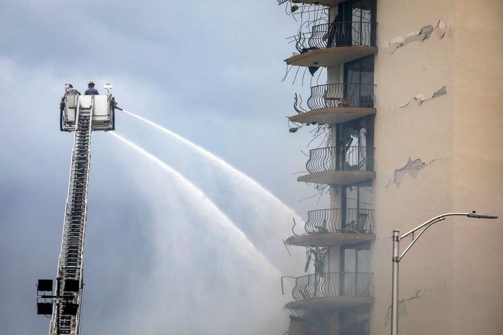 """Miami-Dade Mayor Daniella Levine Cava said rescuers were at """"extreme risk"""" going through the rubble."""