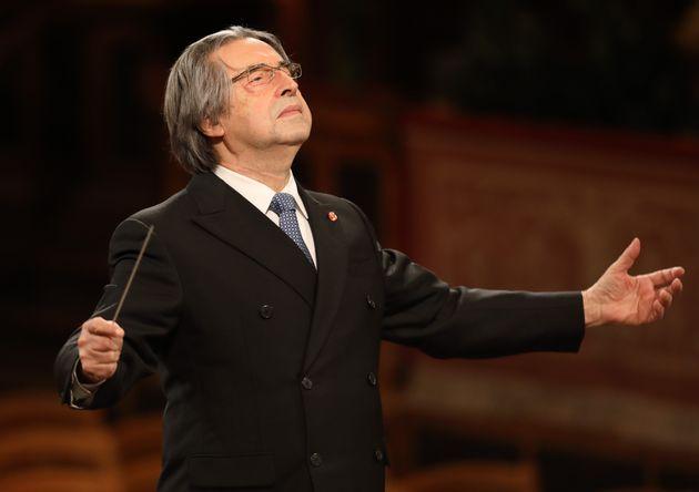 VIENNA, Jan. 1, 2021 -- Italian conductor Riccardo Muti conducts the Vienna Philharmonic during the 2021...