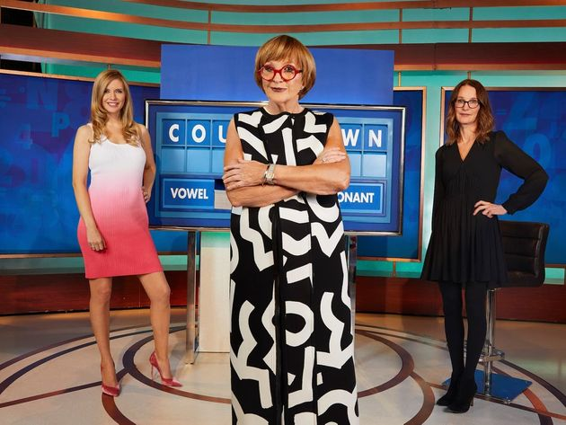 Anne Robinson with Countdown stars Rachel Riley and Susie