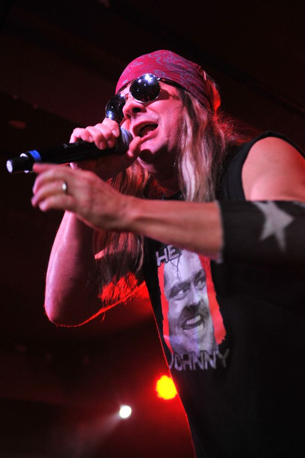 Johnny performing live in