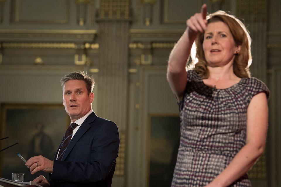 Keir Starmer and former political director Jenny
