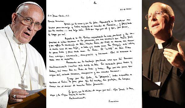 Il papa scrive una lettera di sostegno a padre James Martin, difensore dei diritti