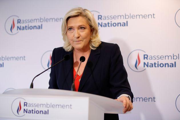 Marine Le Pen lors de son allocution à l'issue du second tour des élections