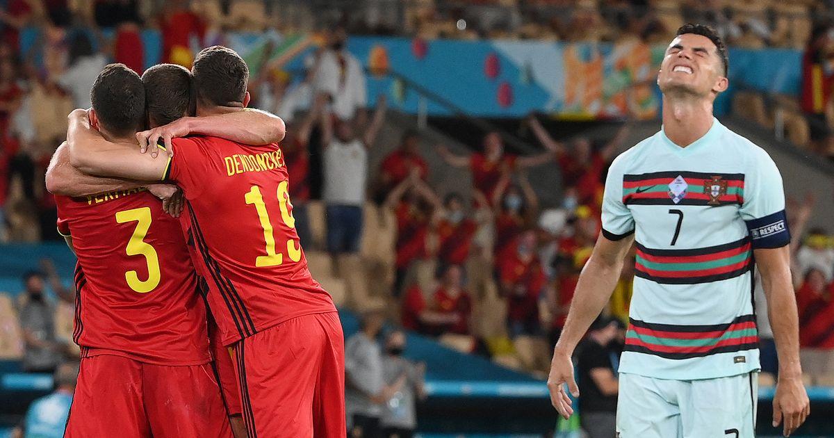 Les champions en titre portugais éliminés de l'Euro par la Belgique