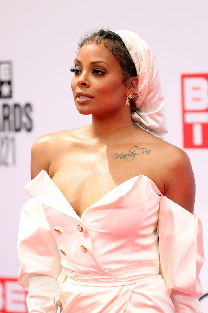 Eva Marcille attends the BET Awards 2021 at Microsoft Theater.