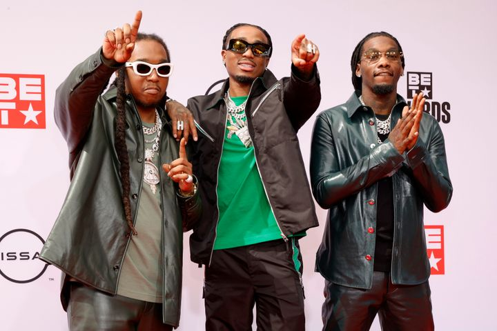 Takeoff, Quavo and Offset of Migos attend the BET Awards 2021.