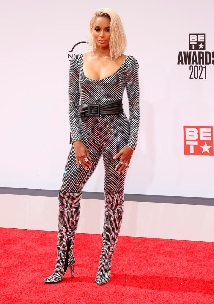 Ciara attends the BET Awards 2021 at Microsoft Theater.