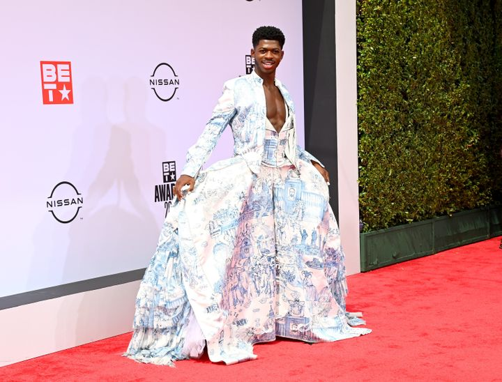 Lil Nas X attends the BET Awards 2021.