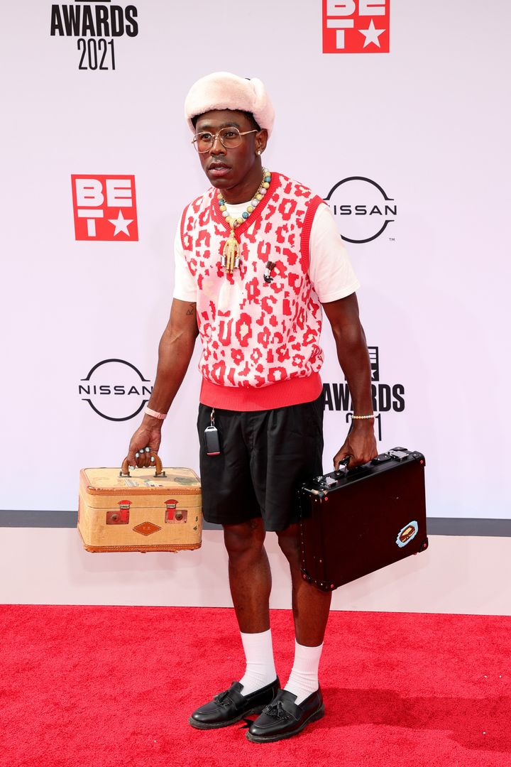 Tyler, the Creator attends the BET Awards 2021.