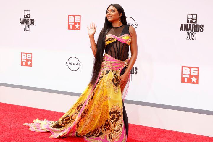 Host Taraji P. Henson attends the BET Awards 2021.