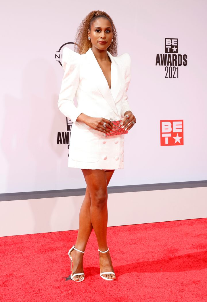 Issa Rae attends the BET Awards 2021.