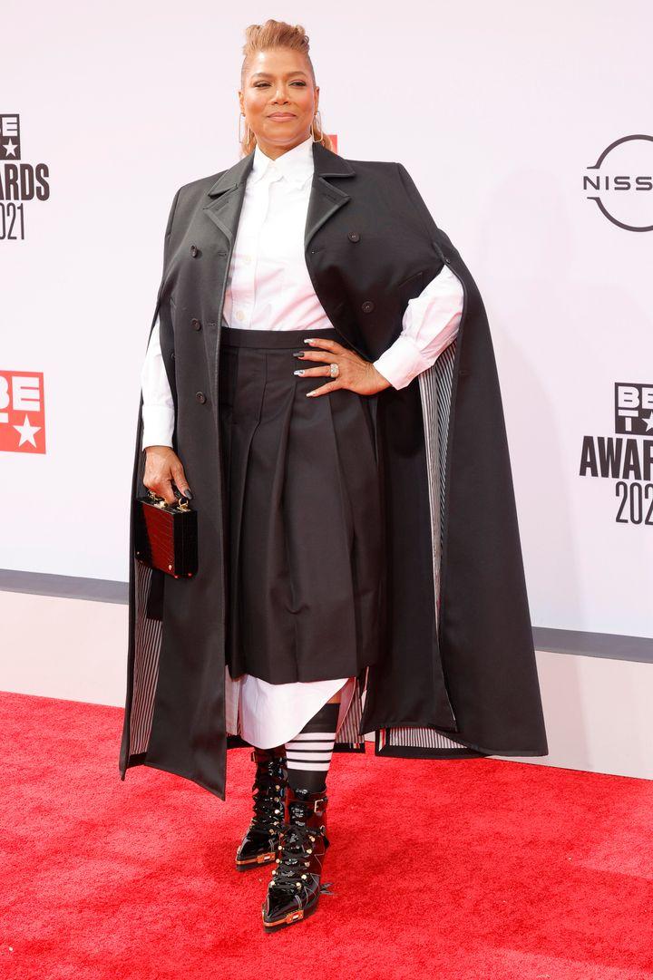 Queen Latifah at the 2021 BET Awards.