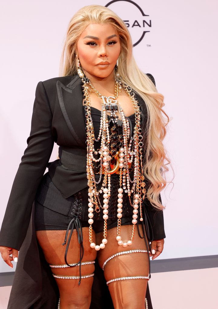Lil' Kim attends the BET Awards 2021.