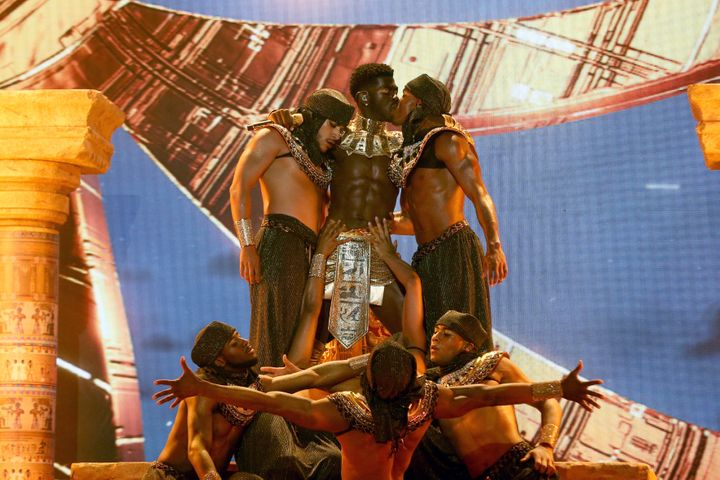 Lil Nas X performs onstage at the BET Awards 2021 at Microsoft Theater on June 27 in Los Angeles.