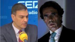 Pedro Sánchez responde a la polémica frase de Aznar dando justo donde más