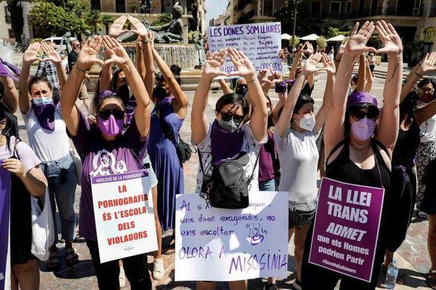Manifestación por la ley