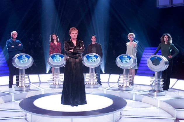 Anne Robinson on the set of The Weakest