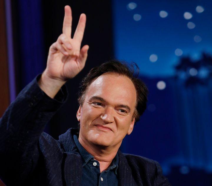 Quentin Tarantino en el programa 'Jimmy Kimmel Live!'.