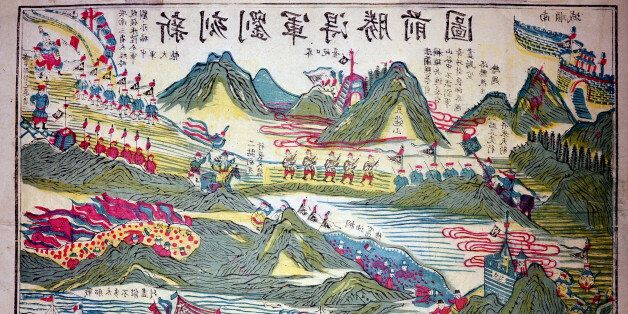 The first Sino-Japanese war, battle scene (Photo by: Leemage/UIG via Getty Images)