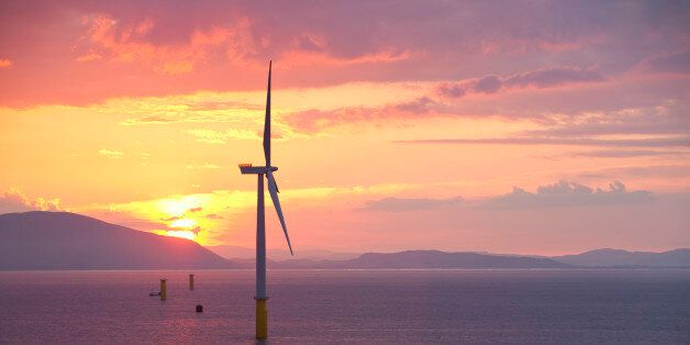 BARROW IN FURNESS, UNITED KINGDOM - UNDATED: (EXCLUSIVE COVERAGE) General view of the Walney offshore windfarm from the jack