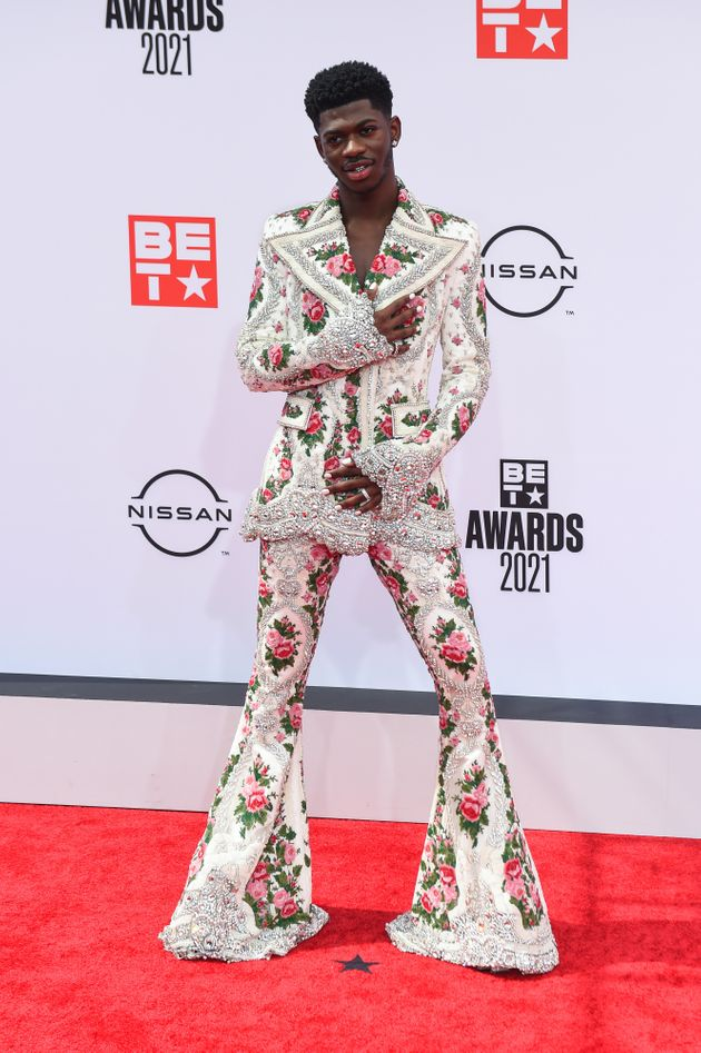 Lil Nas X in his second red carpet ensemble of the
