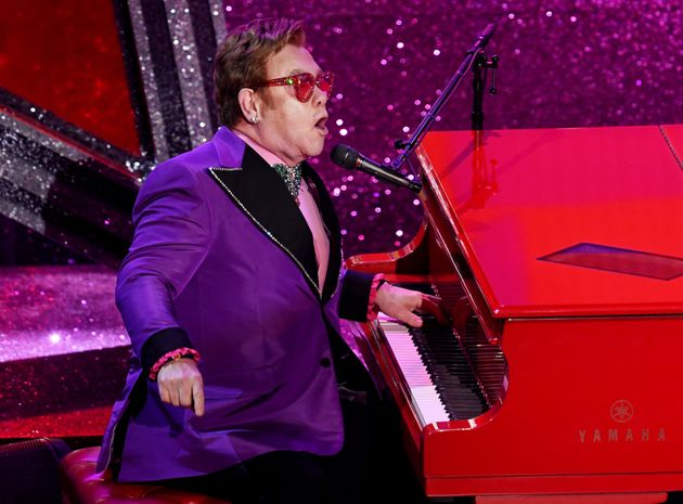 Elton performing in February