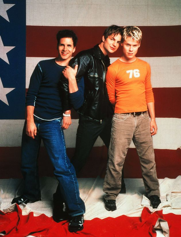 Hal Sparks, Gale Harold and Randy Harrison in the US remake of Queer As Folk