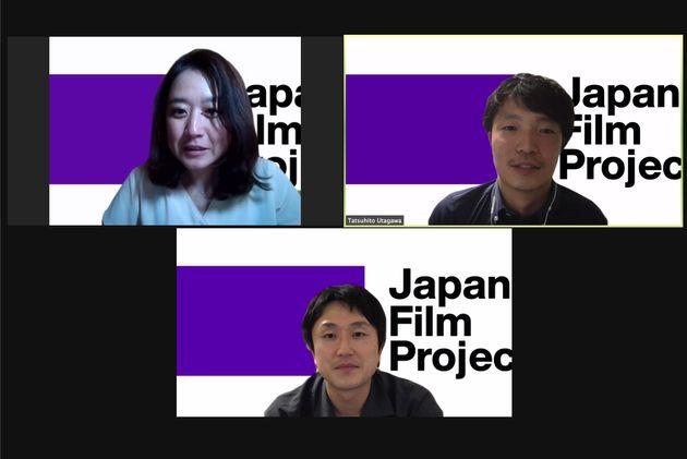 左上から時計回りに伊藤恵里奈さん、歌川達人さん、西原孝至さん