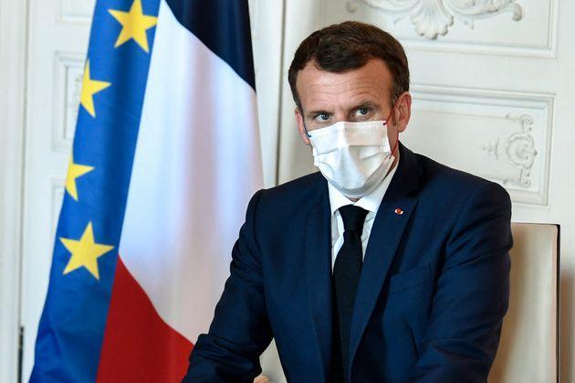 Emmanuel Macron photographié ce lundi 28 juin à Versailles à l'occasion du sommet...