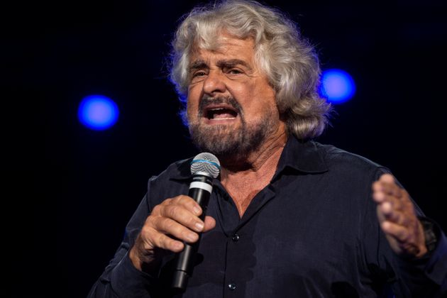 NAPLES, ITALY - OCTOBER 12: Beppe Grillo founding member of the Movimento 5 Stelle (5 Star Movement)...