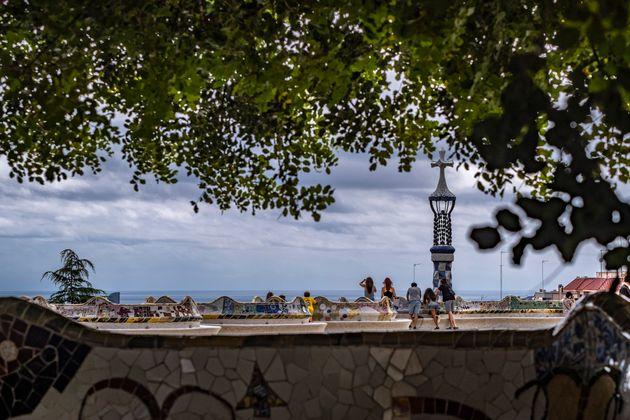 El mirador del Park Güell de Barcelona, en una foto de