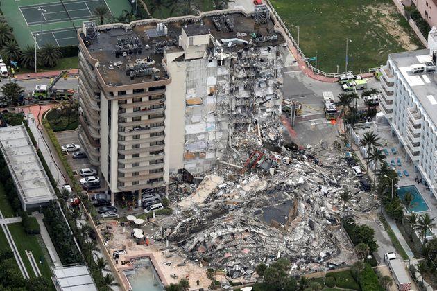 Edificio derrumbado en