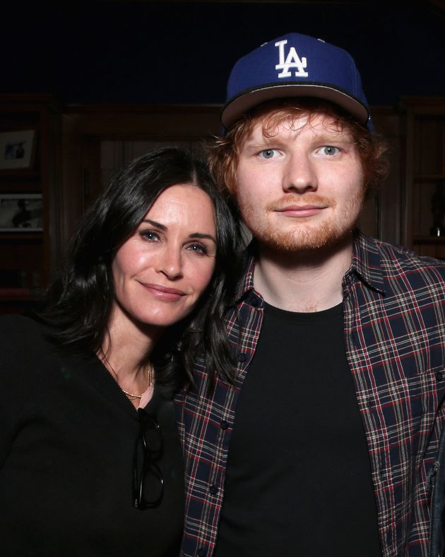 Courteney Cox and Ed