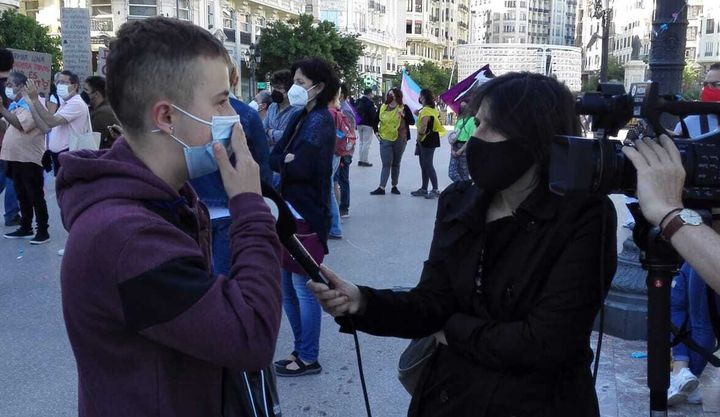 Mario, de 17 años, en una entrevista con la cadena autonómica À Punt.