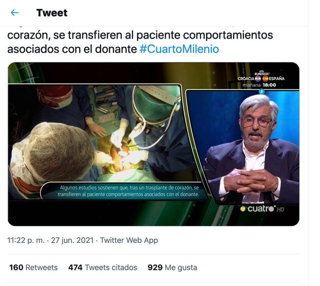 Captura del tuit de Iker