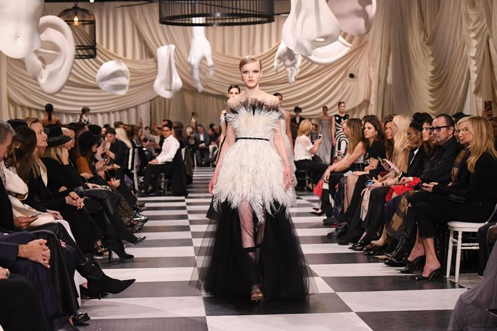 A model walks the runway during the Christian Dior Spring Summer 2018 show as part of Paris Fashion Week on Jan. 22, 2018.
