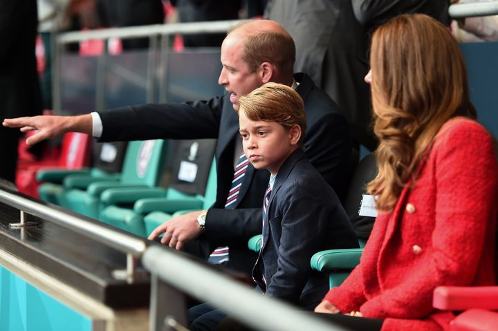 George attending the game with his parents is a very big step for the future king.