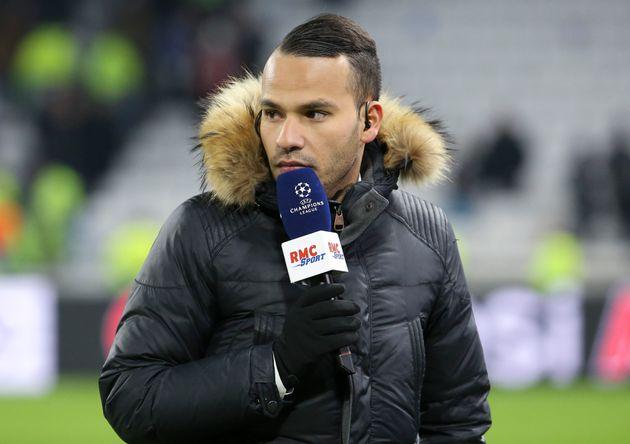 Mohamed Bouhafsi lors du match opposant l'Olympique Lyonnais et le RB Leipzig le 10 décembre 2019...