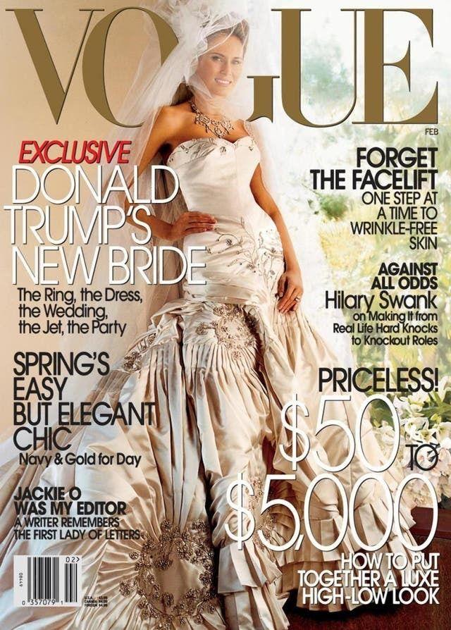 Melania Trump, portada de 'Vogue' en 2005.