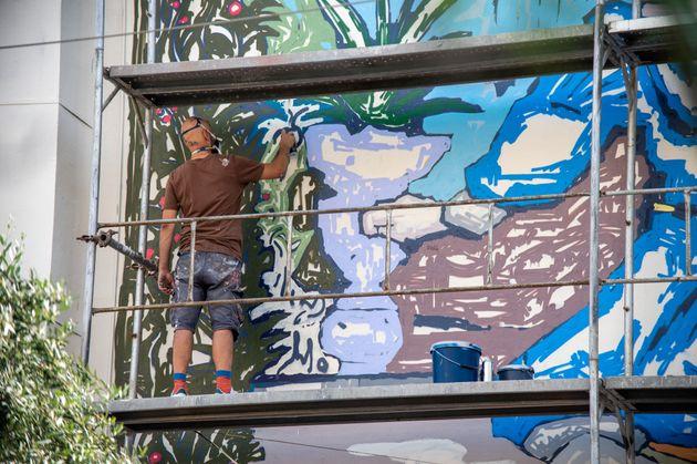 Από το πρόγραμμα δημόσιων τοιχογραφιών του Δήμου Αθηναίων