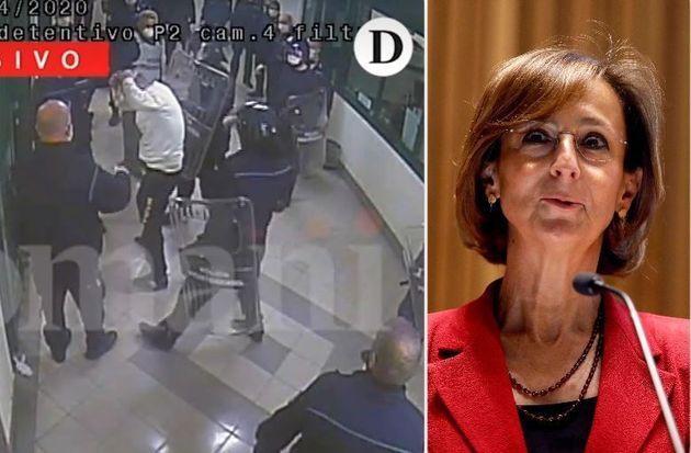 Un frame del video esclusivo del pestaggio pubblicato da Domani - la ministra della Giustizia, Marta
