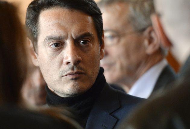 David Koubbi, l'avocat de Jérôme Kerviel, vu le 19 mars 2014 au tribunal de Paris, lors...