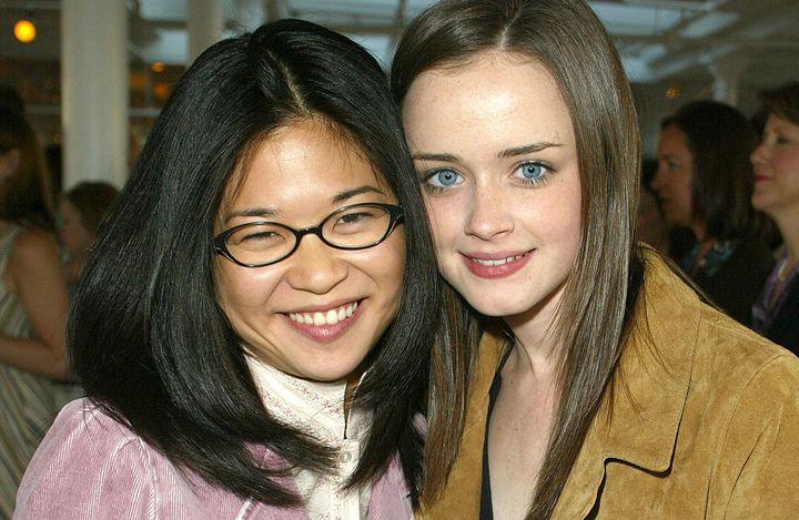 Keiko Agena and Alexis Bledel attend a Warner Bros. event together in 2002.
