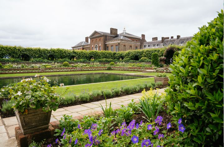A look at the newly redesigned Sunken Garden, courtesy of Kensington Palace. New work began on the garden in October 2019.