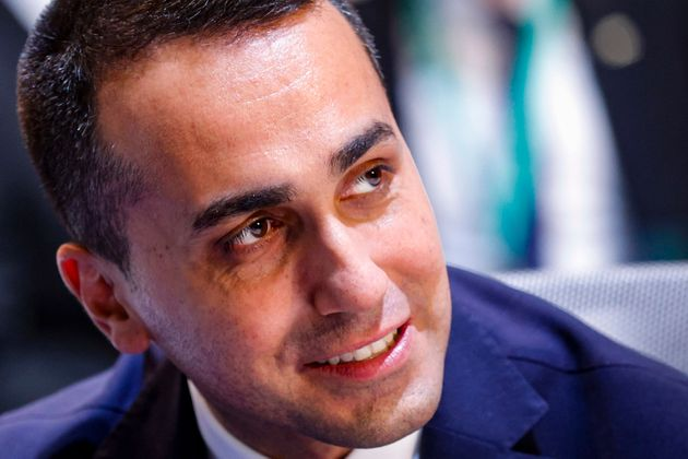 Host and Italian Minister of Foreign Affairs Luigi Di Maio speaks during a meeting of the US-led coalition...