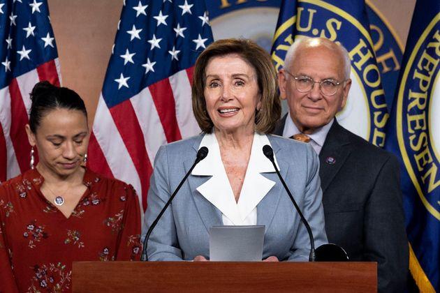 La presidenta de la Cámara de Representantes, la demócrata Nancy Pelosi, en el