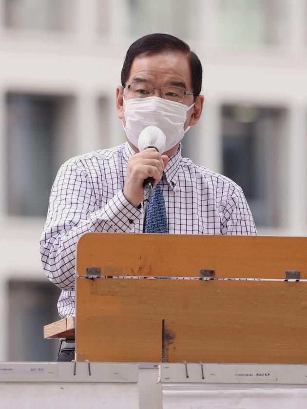 東京都議選の応援演説をする共産党の志位和夫委員長