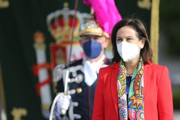 La ministra de Defensa, Margarita Robles, en un acto castrense en Madrid, el pasado