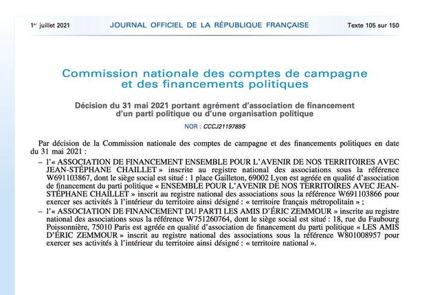 Journal officiel électronique authentifié n° 0151 du